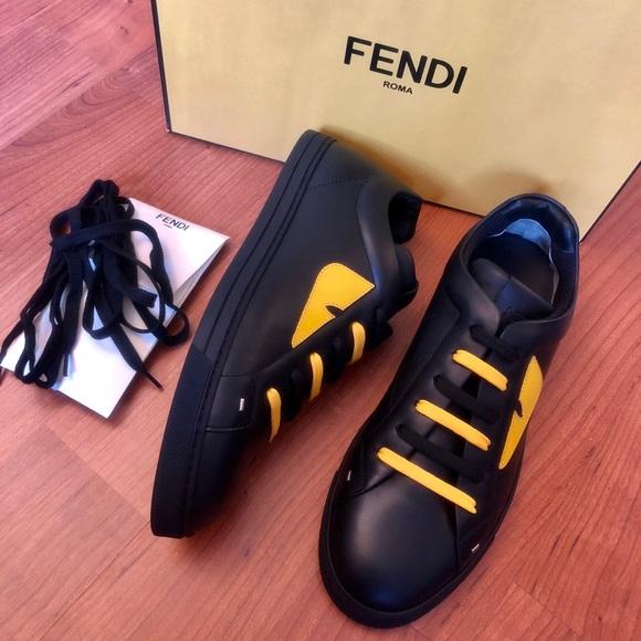 Nib Fendi Mens Monster Sneaker Us8